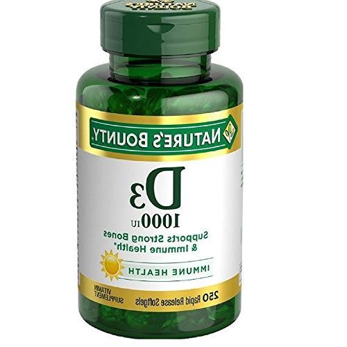 Nature's Bounty Vitamin D-1000 IU, Rapid Release Softgels 25