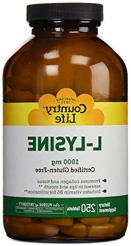 vitamins l lysine w b