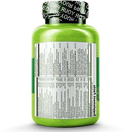 NATURELO Multivitamin for Vitamins, Extracts - Vegan/Vegetarian Best Heart, - 240 Capsules