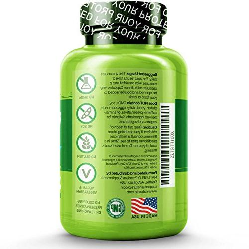 NATURELO Whole Food Multivitamin Vitamins, Minerals, Antioxidants, Extracts - Best Energy, Heart, Eye 240 Capsules