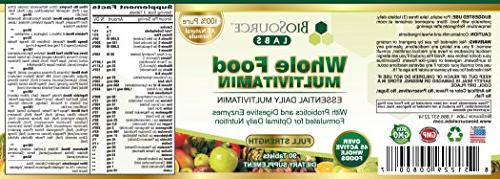 BioSource Food Multivitamin for Women - Essential Daily Vitamins Minerals Non-GMO Fruits with & Digestive Enzymes, B-Complex