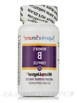 Women's B B12 & Folic 60 Dissolvable Tablets Superior Source