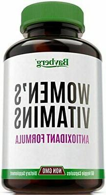 Women's Multivitamins Antioxidant Energy Supplement Vitamin