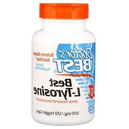 Doctor's Best L-Tyrosine, Non-GMO, Gluten Free, 120 Veggie C