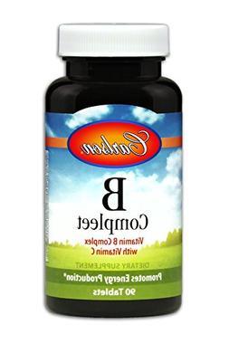 Carlson B-Compleet, B Complex, Vitamin C, 90 Tablets