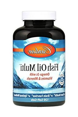 Carlson Fish Oil Multi, Vitamins, Minerals, Omega-3s, Iron-F