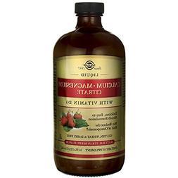Solgar Liquid Calcium Magnesium Citrate with Vitamin D3, Nat
