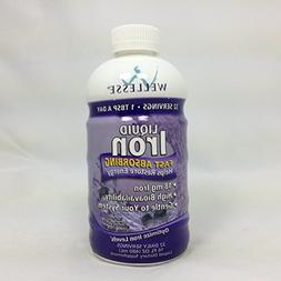 WELLESSE Liquid Mineral Supplement, Iron, 16 OZ