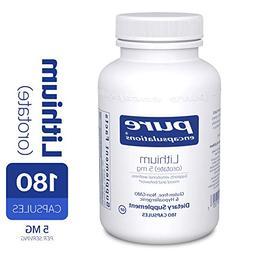 Pure Encapsulations Lithium Orotate , 180 count