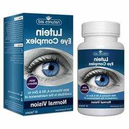 Lutein Eye Complex 10mg lutein alongside Vitamins A, B2 Ribo