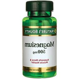 Nature's Bounty Magnesium 500mg, 300 Tablets