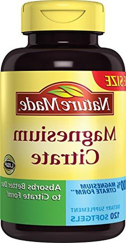 Nature Made Magnesium Citrate 250 mg Softgels 120 Ct