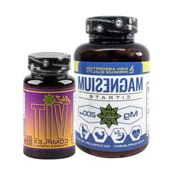 Magnesium Citrate Supplement Multivitamins A Z complex 100 t