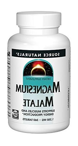 Source Naturals Magnesium Malate 1250mg Supplement Supports