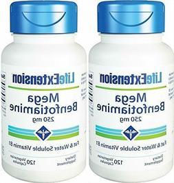 Life Extension Mega Benfotiamine 250 mg, 120 vegetarian caps