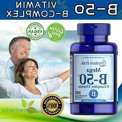 Mega Vitamin B-50 B-Complex Energy Metabolism Cardiovascular