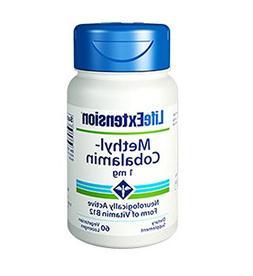 Life Extension Methyl Cobalamin Dissolve in Mouth Vanilla Lo