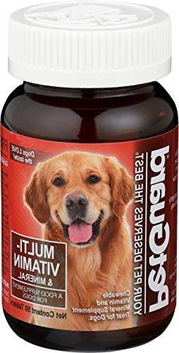 Multi-Vitamin/Multi-Mineral Supplement For Dogs Pet Guard 50