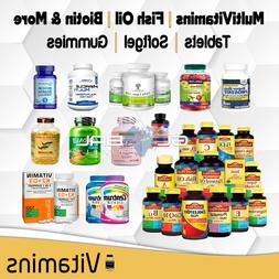 Multivitamin Supplement Vitamin A B C D Fish Oil lot Tablet