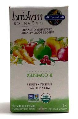 Garden of Life Mykind Organics B-complex 30 Tablets