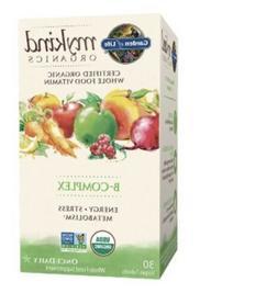 Garden of Life mykind Organics B-Complex 30 Vegan Tablets Gl