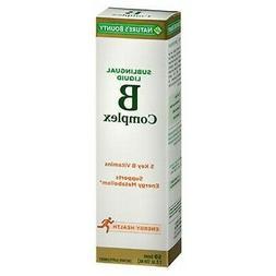 Nature's Bounty Vitamin B Complex Sublingual Liquid 24