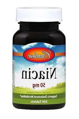 Niacin 50 mg, Vitamin B-3, Cholesterol Metabolism, 300 Table