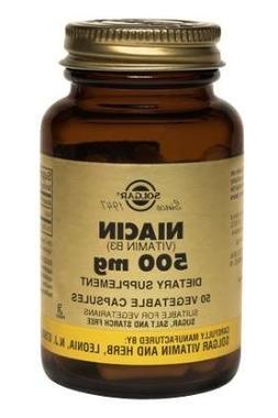 Solgar - Niacin  500 mg, 250 Vegetable Capsules