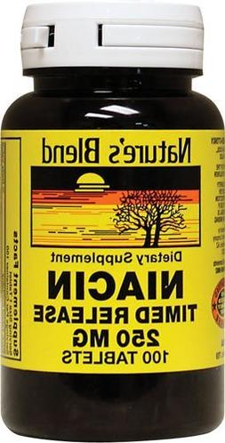 Nature's Blend Niacin Timed Release 250 mg 250 mg 100 Tabs P