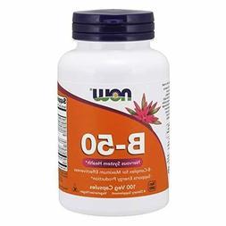 Now Foods B-50 Vitamin B Complex 100 Veg Capsules