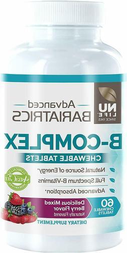 Nu Life Advanced Bariatrics B-Complex Energy Vitamin B Berry