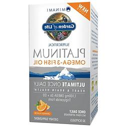 Garden of Life Omega 3 Fish Oil with Vitamin D Once Daily -