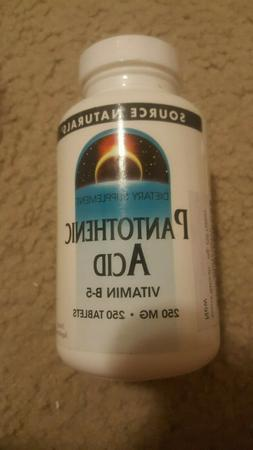 Source Naturals Pantothenic Acid 250mg Vitamin B-5 - 250 Tab