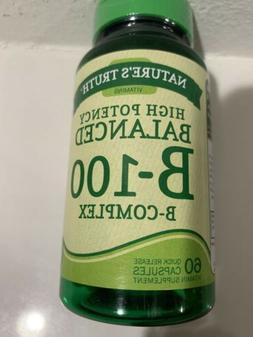 Nature's Truth High Potency Balanced B-100 B- Complex Quick