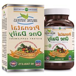Amazing Naturals PRENATAL ONE DAILY Multivitamin with Floic