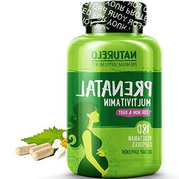 NATURELO Prenatal Whole Food Multivitamin - with Natural Iro