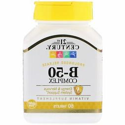 21st Century Prolonged Release Vitamin B Complex 60tab Energ