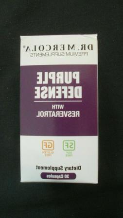 Dr. Mercola Purple Defense Resveratrol, 30 Capsules