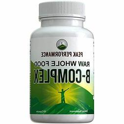 Raw Whole Food Vegan B Complex Supplement. Best B-Complex wi