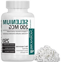 Bronson Selenium 200 Mcg for Thyroid, Prostate and Heart Hea
