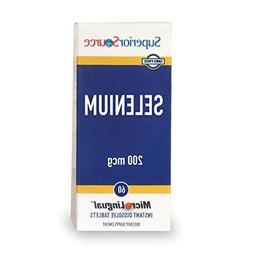 Superior Source Selenium Nutritional Supplements, 200 mcg, 6