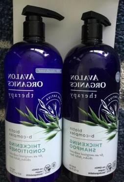 Avalon Organics Shampoo & Conditioner Thickening Biotin B Co