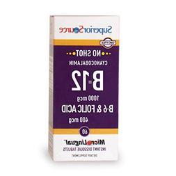 Superior Source No Shot B6/B12/Folic Acid Nutritional Supple