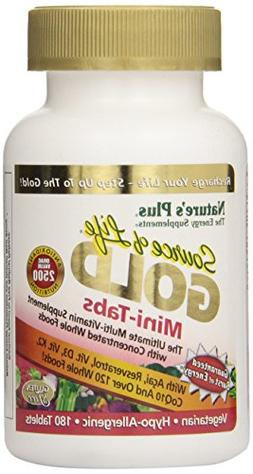 Source of Life GOLD Mini Tabs Nature's Plus 180 Tabs