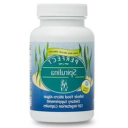 Perfect Supplements Spirulina Capsules - Certified Raw, USDA