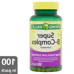 spring valley super vitamin b complex supplement