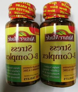 Nature Made Stress B-Complex Tablets With Vitamin C and Zinc