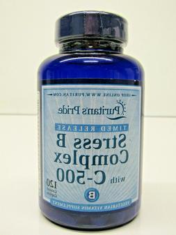 Puritan's Pride Stress Vitamin B-Complex with Vitamin C-500