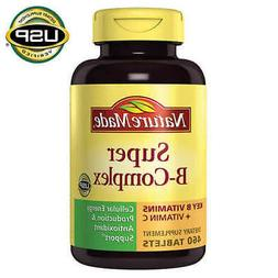 Nature Made Super B-Complex, 460 Tablets ** FREE SHIPPING **