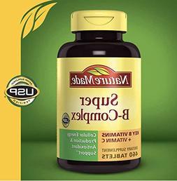 Nature Made Super B-Complex with Vitamin C and Folic Acid Ta